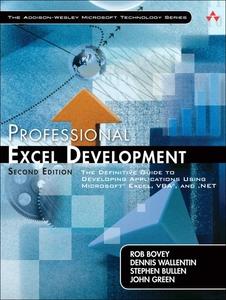 Professional Excel Development (e-bog) af Rob Bovey, Dennis Wallentin, Stephen Bullen