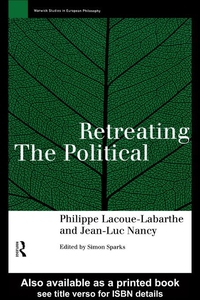 Retreating the Political (e-bok) av Phillippe L