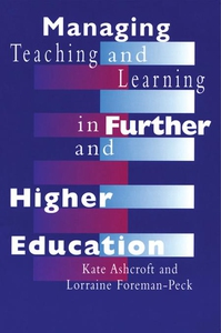Managing Teaching and Learning in Further and H