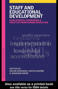Staff and Educational Development (e-bok) av Da