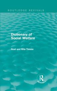 Dictionary of Social Welfare (e-bok) av Noel W