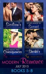 Modern Romance July 2015 Books 5-8 (ebok) av