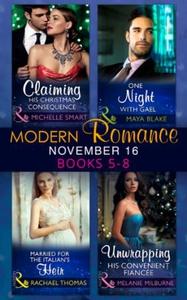 Modern Romance November 2016 Books 5-8 (ebok)