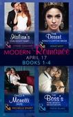 Modern Romance April 2017 Books 1-4