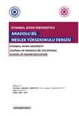 ISTANBUL AYDIN UNIVERSITY JOURNAL OF ANADOLU BIL VOCATIONAL SCHOOL OF HIGHER EDUCATION
