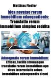 Idea novatae rerum immobilium adaequationis
