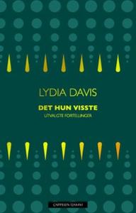 Det hun visste (ebok) av Lydia Davis