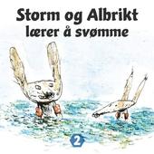 Storm og Albrikt lærer å svømme