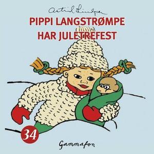 Pippi Langstrømpe har juletrefest (lydbok) av