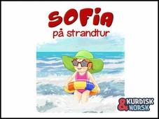 Sofia på strandtur Kurdisk-norsk