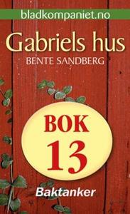 Baktanker (ebok) av Bente Sandberg