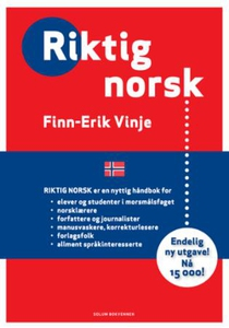 Riktig norsk (ebok) av Finn-Erik Vinje