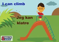 Jeg kan klatre Engelsk-norsk