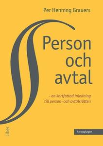 Person och avtal (e-bok) av Per Henning Grauers