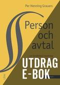 Person och avtal -Utdrag Avtalsrätt