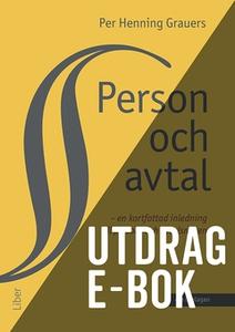 Person och avtal -Utdrag Avtalsrätt (e-bok) av