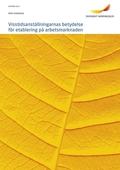 Visstidsanställningarnas betydelse för etablering på arbetsmarknaden