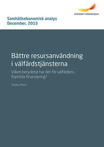 Bättre resursanvändning i välfärdstjänsterna (e