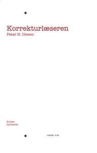 Korrekturlæseren (e-bog) af Peter H. Olesen