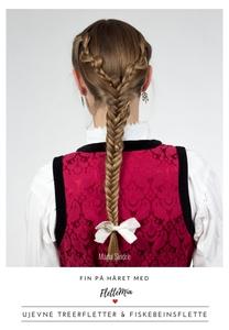 Fin på håret med FletteMia: Ujenve treerflett