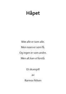 Håpet (ebok) av Rannov Nilsen